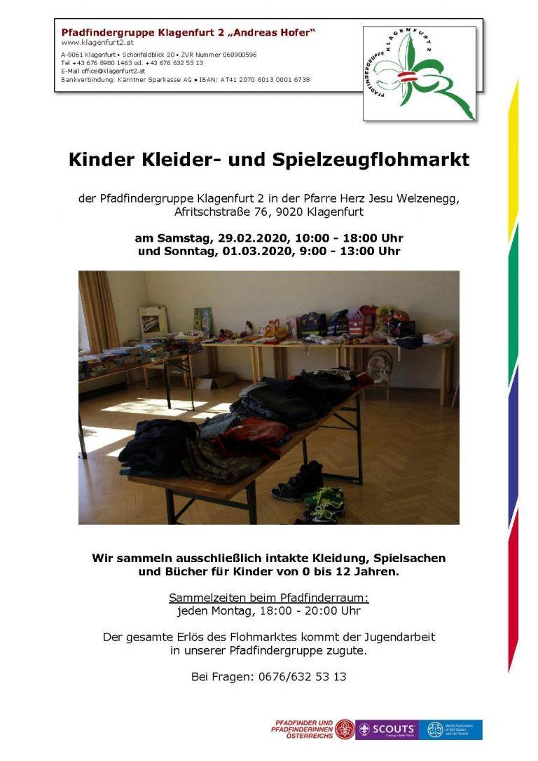 Einladung Flohmarkt 2020 Klagenfurt 2